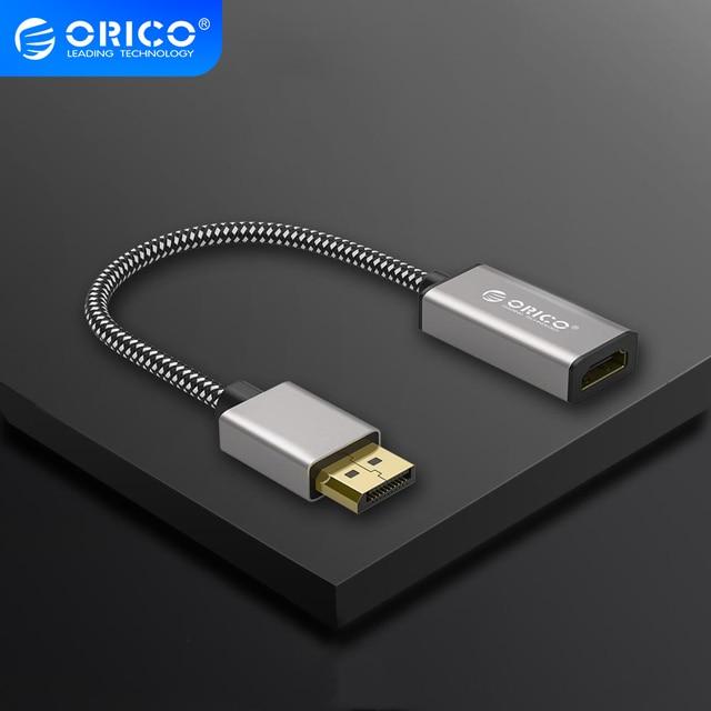 ORICO 4K DisplayPort ชาย DP TO DVI ADAPTER อะแดปเตอร์แสดงพอร์ต 1.1 รุ่น 1080P 60Hz Converter สำหรับแล็ปท็อปทีวีโปรเจคเตอร์