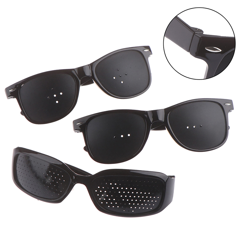 Black Vision Protector Pin Hole Glasses Improve Your Eyesight Best Choice For Reading Writing Or Watching Eye Fitness Eye Care