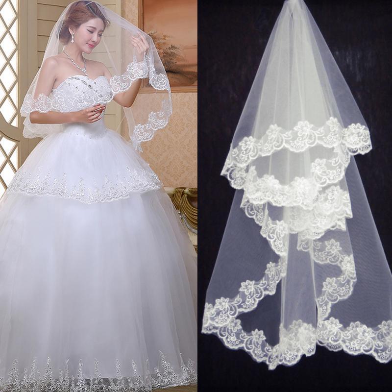 Elegant Wedding Accessories 1.5 Meters One Layer Wedding Veil White Ivory Simple Bridal Veil Wedding Veil