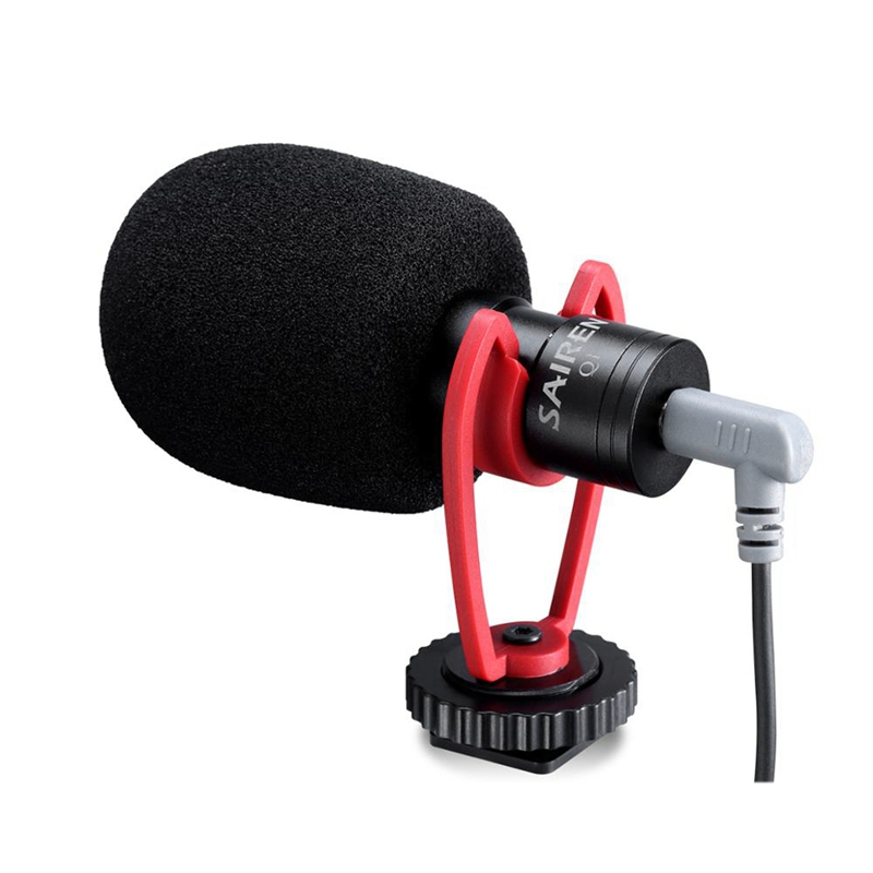 VM-Q1 Vlog Video Microphone With Shock Mount For IPhone 11 Samsung Smart Phone Sony Nikon Canon DSLR Camera
