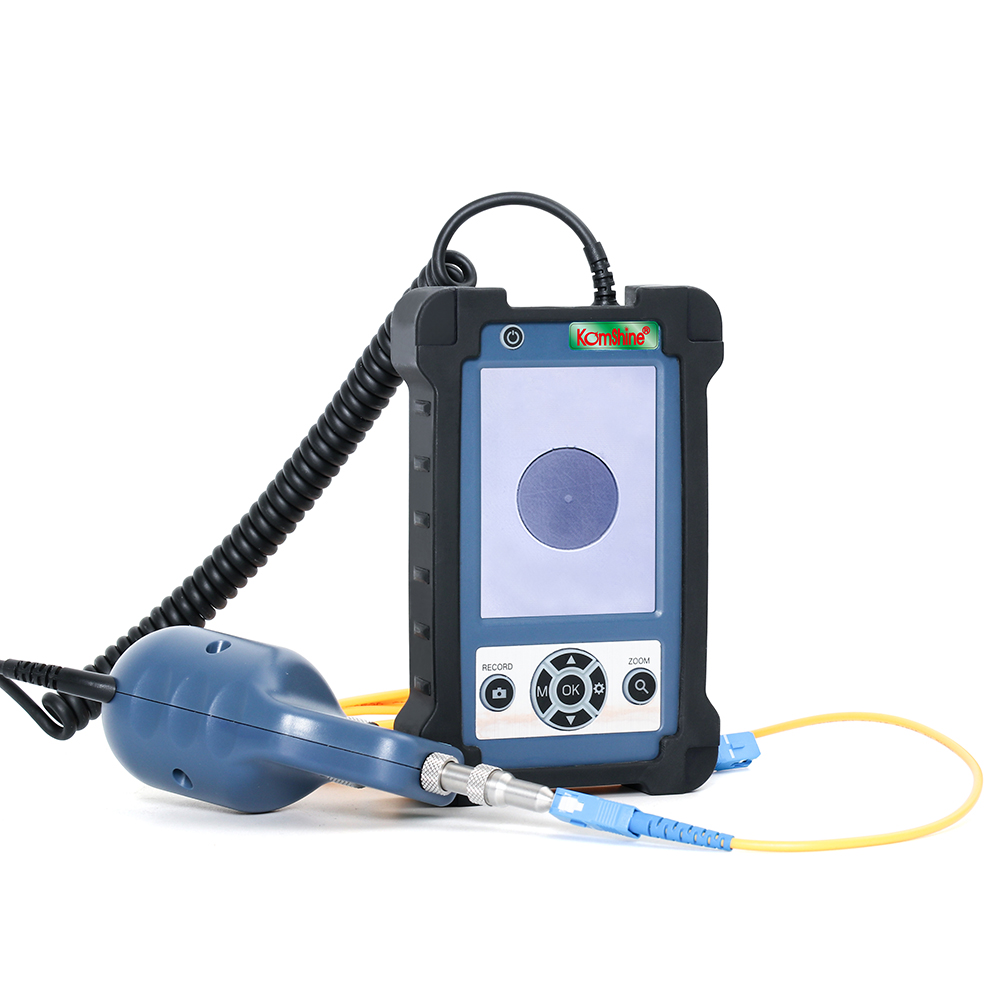 3.5 Inch HD LCD Display Inspector Fiber Optic Inspection Probe 400X Magnification, SC-M, 1.25mm LC-F/M Tips