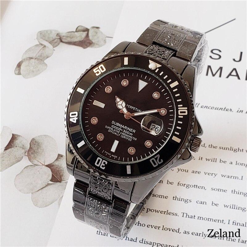 Mens Big Brand Watches Water Ghost Hip Hop Carved Unique Cool Date Business Quartz Wristwatches Reloj Hombre Acero Inoxidable