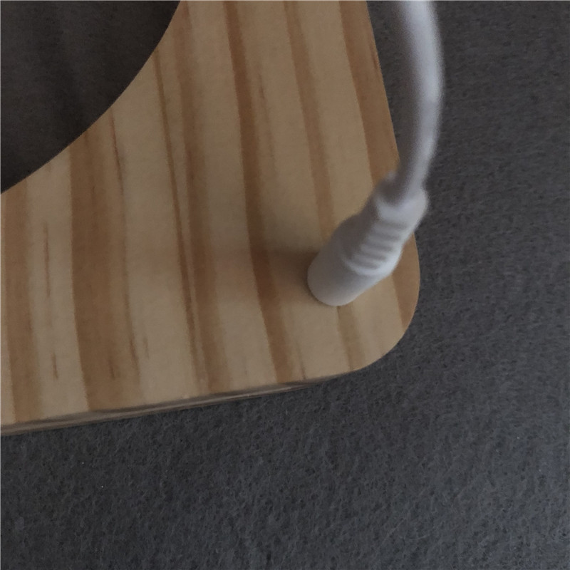 madeira escultura lampada controle interruptor de 04
