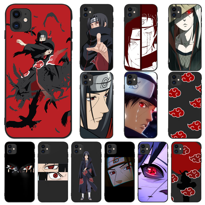 AnimeNaruto Itachi Black Gear eyes TPU Soft Phone Case Cover for iPhone 11 pro max X XS MAX 6 6S 7 7plus 8 Plus SE 2020 XR funda