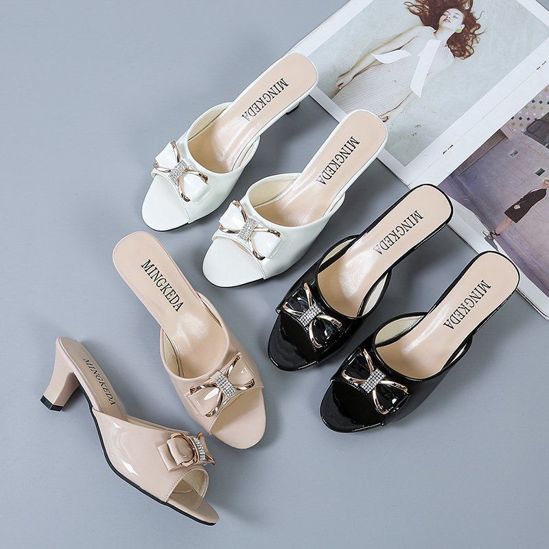 Women Classic Beige High Quality Slip on Heel Pumps Lady Casual Spring & Summer Comfort Heel Shoes Zapato Tacon Alto E5915
