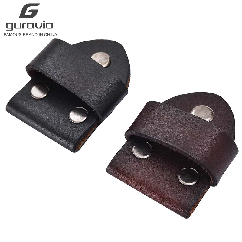 5 Sets Belt Head Connection Leather Pin Buckle Cowhide Belts Accessories Smooth Buckle Link Leather Screw Belt Attachment