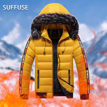 2020 Winter Thicken Men Hooded Parka Jackets Casual Windproof Removable Warm Outwear  Size L-5XL Coats men s winter parka jackets large size fleece thick warm winter jackets male outwear windbreakers fur hooded jackets coats