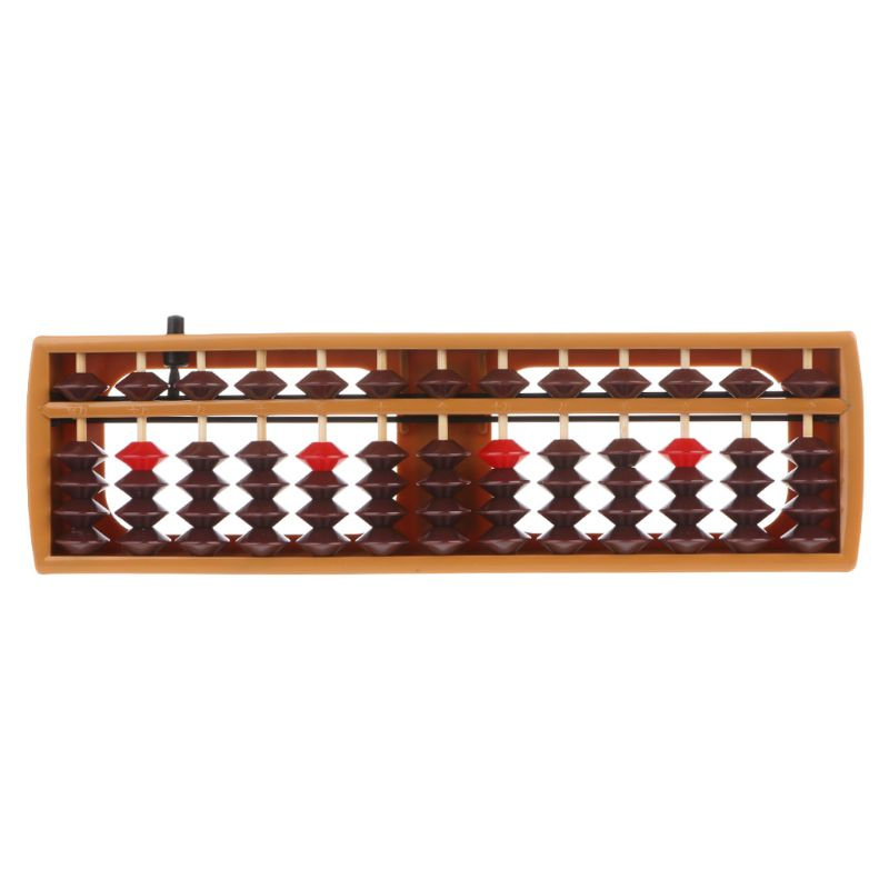 Portable Japanese 13 Digits Column Abacus Arithmetic Soroban Caculating School Math Learning Tool Q6PA