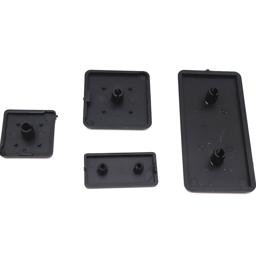 BLACK Nylon End Cap Cover Plate CNC 3D Printer Part For EU Aluminum Profile 2040/3060/4080/4590/1640/2080/3090/40120/40160/50100