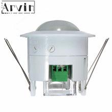 Alarme de segurança em casa systen 360 graus infravermelho pir detecção ir embutido sensor de movimento detector interruptor de luz automática sensor de movimento