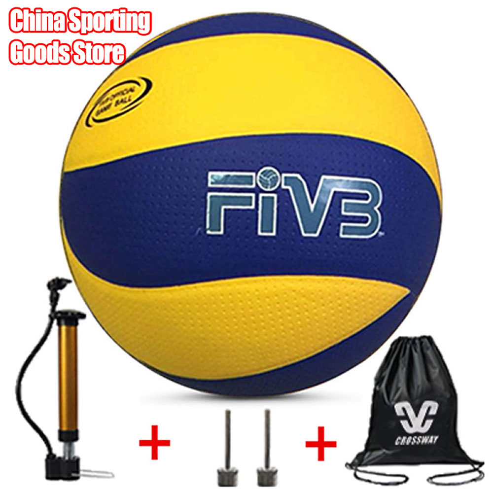 Brand volleyball, Pu volleyball official match mva200, indoor training, beach volleyball, free air pump + air needle + bag