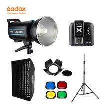 Godox QS600II 600Ws GN65 Professional Studio Flash Strobe + 2.8m Light Stand + 70x100cm Grid Softbox + Trigger + Barn Door Kit