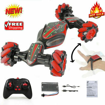 UK Remote Control Off-Road Gesture Sensing 4WD Double Sided Flip RC Stunt Car RW