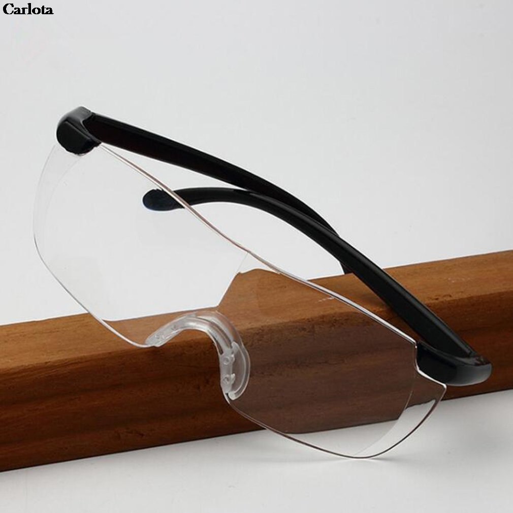 1 Piece Magnifying 1.6 Times Eyeglasses 250 Degrees Magnifies <font><b>Glasses</b></font> Big Vision <font><b>Reading</b></font> <font><b>Glasses</b></font> Frameless image