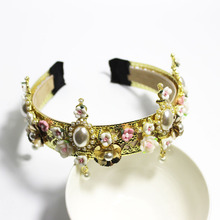 Baroque Rhinestone Headband Hair Accessories Pearl Hair Accessories Women Accessories Tiara with Crystals and Pearls Rhinestone