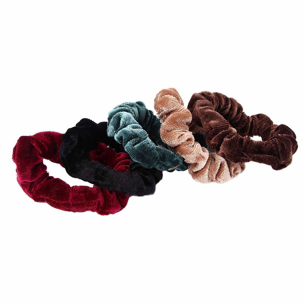 חם 2 יח'\אריזה נשים פצפוץ שיער חבל שימושי Donut אלסטיים גומיית גומייה לשיער קוקו מחזיק שיער פלנל כיסוי ראש בארה 'ב