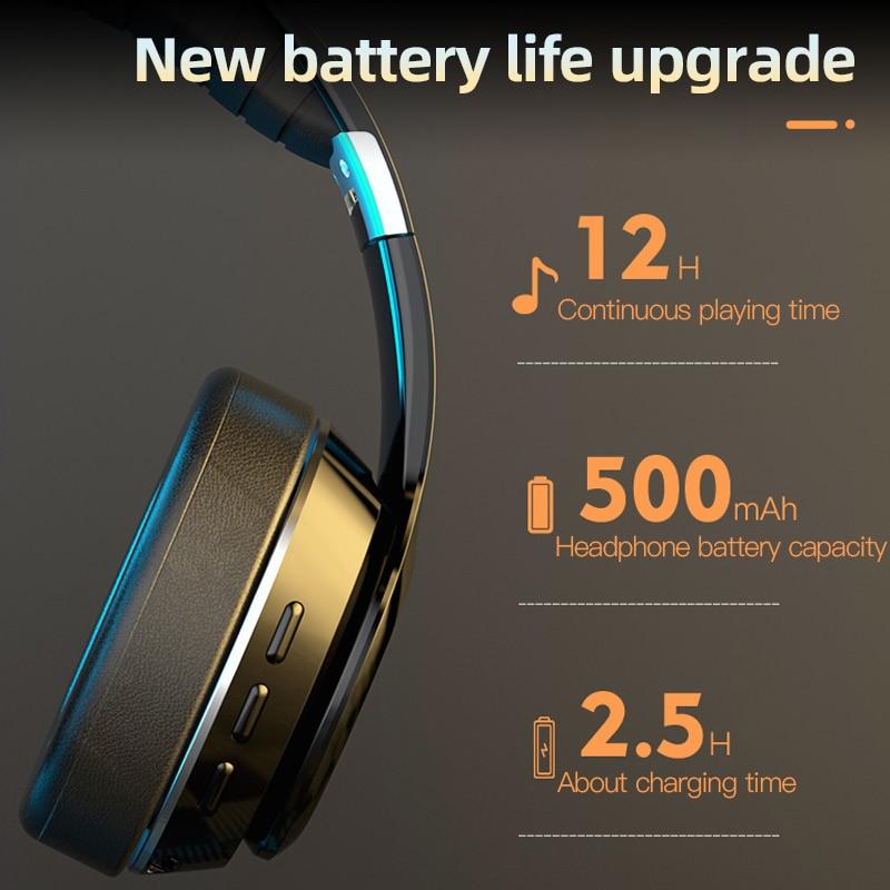 Nieuwe VJ320 Hifi Koptelefoon Draadloze Bluetooth 5.0 Opvouwbaar Ondersteuning Tf Card/Fm Radio/Bluetooth Stereo Headset Met Microfoon diepe Bas 5