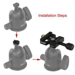 Image 1 - Haoge Combo patron adaptörü Arca ve Manfrotto uyumlu hızlı serbest bırakma kelepçesi Manfrotto Tripod döngüsü kafa kelepçe değiştirme