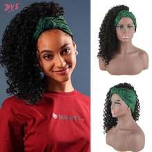 Deyngs тюрбан парик синтетический афро кудрявый обертывание