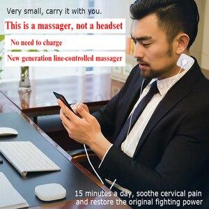 Image 2 - 휴대용 미니 펄스 바디 마사지 휴대 전화 제어 바디 전극 마사지 EMS 근육 자극기 치료 자오선 운반