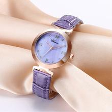 CHENXI Wpmen zegarki moda kobiety zegarki tarcza powłoka skórzany pasek zegarki kwarcowe Casual Ladies zegarki zegarki damskie tanie tanio QUARTZ NONE Sprzączka CN (pochodzenie) STAINLESS STEEL 3Bar Moda casual 16mm ROUND Odporna na wstrząsy Odporne na wodę