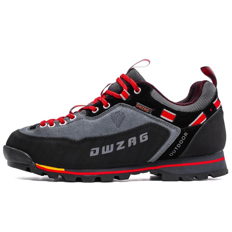 Wasserdicht Wandern Schuhe Männer Echtes Leder Männer Trekking Schuhe Outdoor Männer Klettern Berg Stiefel Schuhe Große größe 46