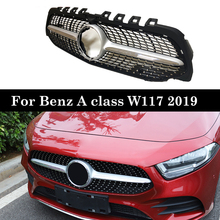 W177 Diamond Grille Front Bumper Racing Car Styling For Mercedes A200 Sports Sedan Front Grill 2019