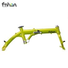Fnhon Breeze Alloy 6061 Folding Bike Frame Fork 14″ 412 16″ 305 V Brake Kids Frameset With Handlepost 3Speed Bicycle Parts