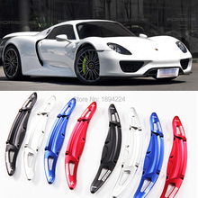 2pcs High Quality Aluminum Car Steering Wheel Shift Paddle Shifter Extension For Porsche 918 Spyder 2015-2017