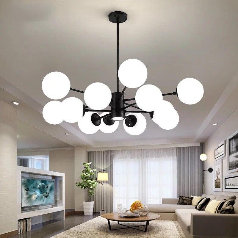 Скандинавский светодиодный стеклянный светильник, минималистичные молекулярные люстры для гостиной, спальни, бара, ресторана, освещение
