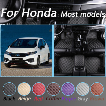 Custom Car Floor Mats For Honda Accord CRV CR-V Jazz Fit City Civic CRZ UR-V INSPIRE All Models Car Styling Foot Mats image