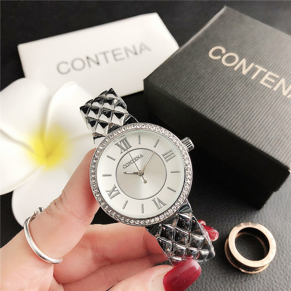 2020 Women Watches Fashion Casual Ladies Quartz Watch Rhinestone Watches Steel Strap Rose Gold Clock Female Wristwatch Hodinky