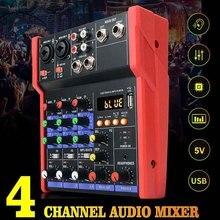 Audio-Mixer Console Sound-Card Studio Karaoke Music Stereo Mini 4-Channels Protable USB