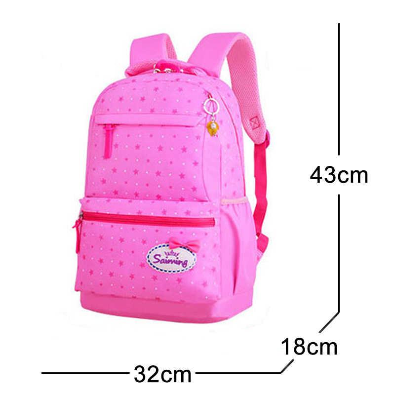 School Bags For Girls Sweet Cute Princess Children Backpack Kids Bookbag Primary School Backpack 3 Set /pcs Children School Bags