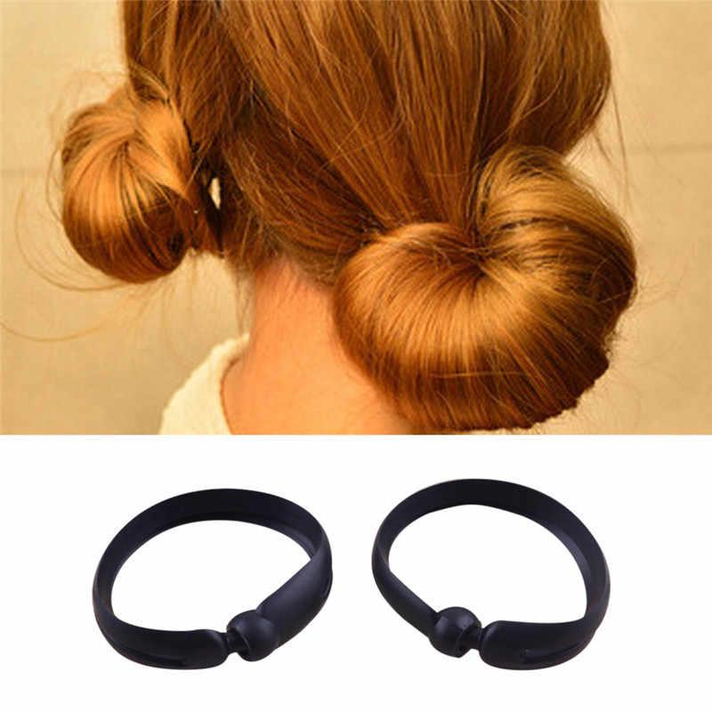 Mujeres DIY francés Twist Maker titular para el cabello estilo Donut Bun Clip herramienta para el cabello accesorios de Palos