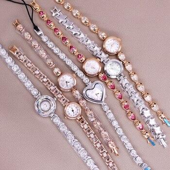 SALE!!! Discount Small Mini Davena Crystal Rhinestones Lady Women's Watch Japan Mov't Hours Metal Bracelet Girl's Gift No Box