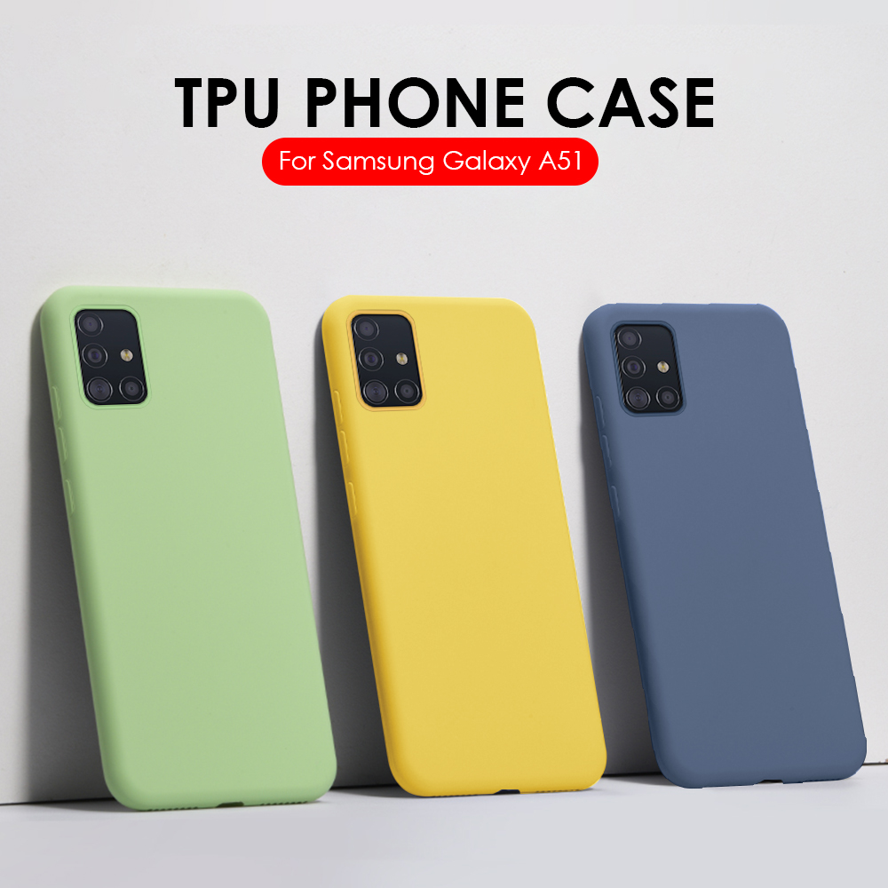 For Samsung Galaxy A51 Case Silicone Soft TPU on the For Samsung A51 A71 S20 Plus S20 A 51 71 Ultra Cover Coque Frosted Fundas(China)