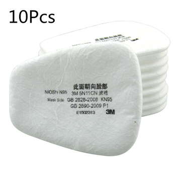 10PCS 6200 Dust Masks Paint Special Protective N95 Mask Anti-dust Dust 5N11 Filter Cotton Raw Materials