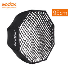 "Godox 95cm 37.5 ""Softbox Regenschirm + Honeycomb Grid Octagon Reflektor Waben Softbox für Godox Yongnuo Blitzgerät(China)"