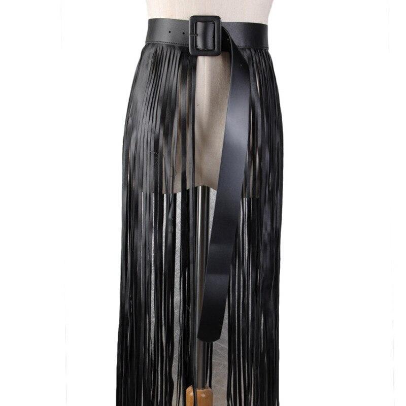 2020 Spring Solid Wide Belt Fashion Corset Belt New Design Leather Tassel Waistband Female Trendy Stylish Belts For Women ZK510