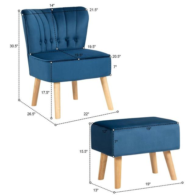 Leisure Chair and Ottoman  2