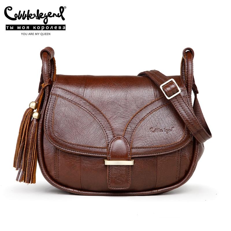 Genuíno do Vintage Bolsas para Senhoras 2020 para Mulheres de Couro Sapateiro Lenda Marca Designer Bolsa Ombro Único Crossbody