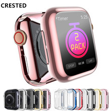 цена на New Watch PC Frame case protective Case for Apple Watch 42mm 38mm Colorful plating cover shell for iwatch series 1 2