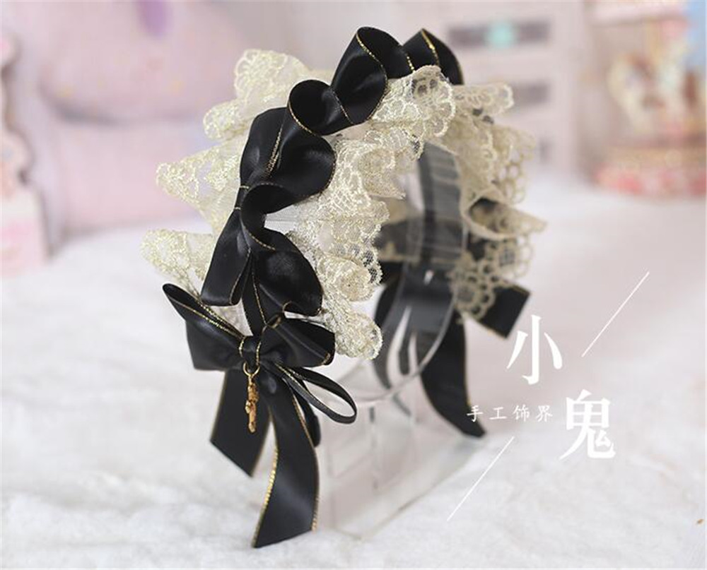 Image 5 - Vintage  Sweet Lolita Lace Bow Headwear Maid Hair Band  Hair Accessories Headbands Elegant Princess KC Headdress B459-in Costume Accessories from Novelty & Special Use