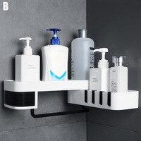 Punch-free Storage Shelf Rack Bathroom Seamless Rotating Rack Double Layer Racks Holder RT99
