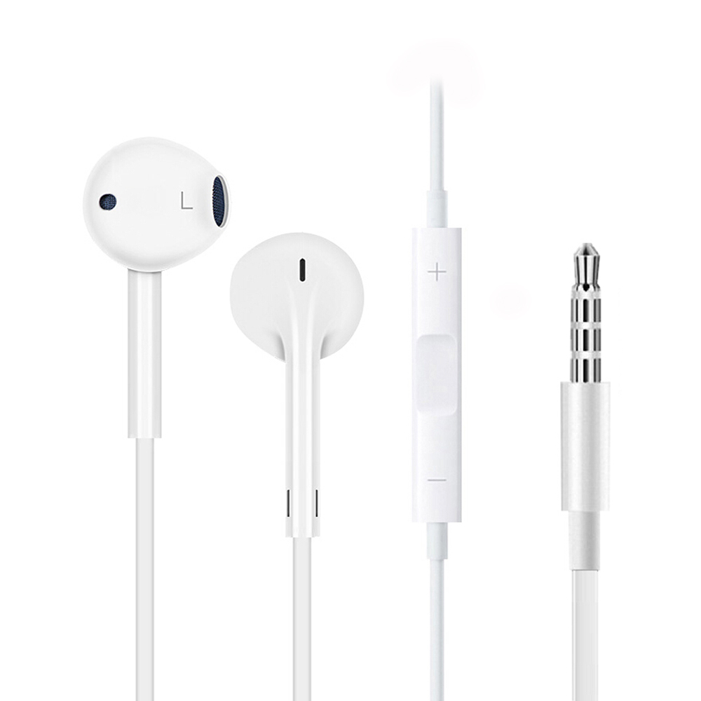 Original Apple Earpods With 3.5mm Plug Wired In-ear Earphone Earbud Deeper Richer Bass For iPhone Android Smartphone Calls Sport