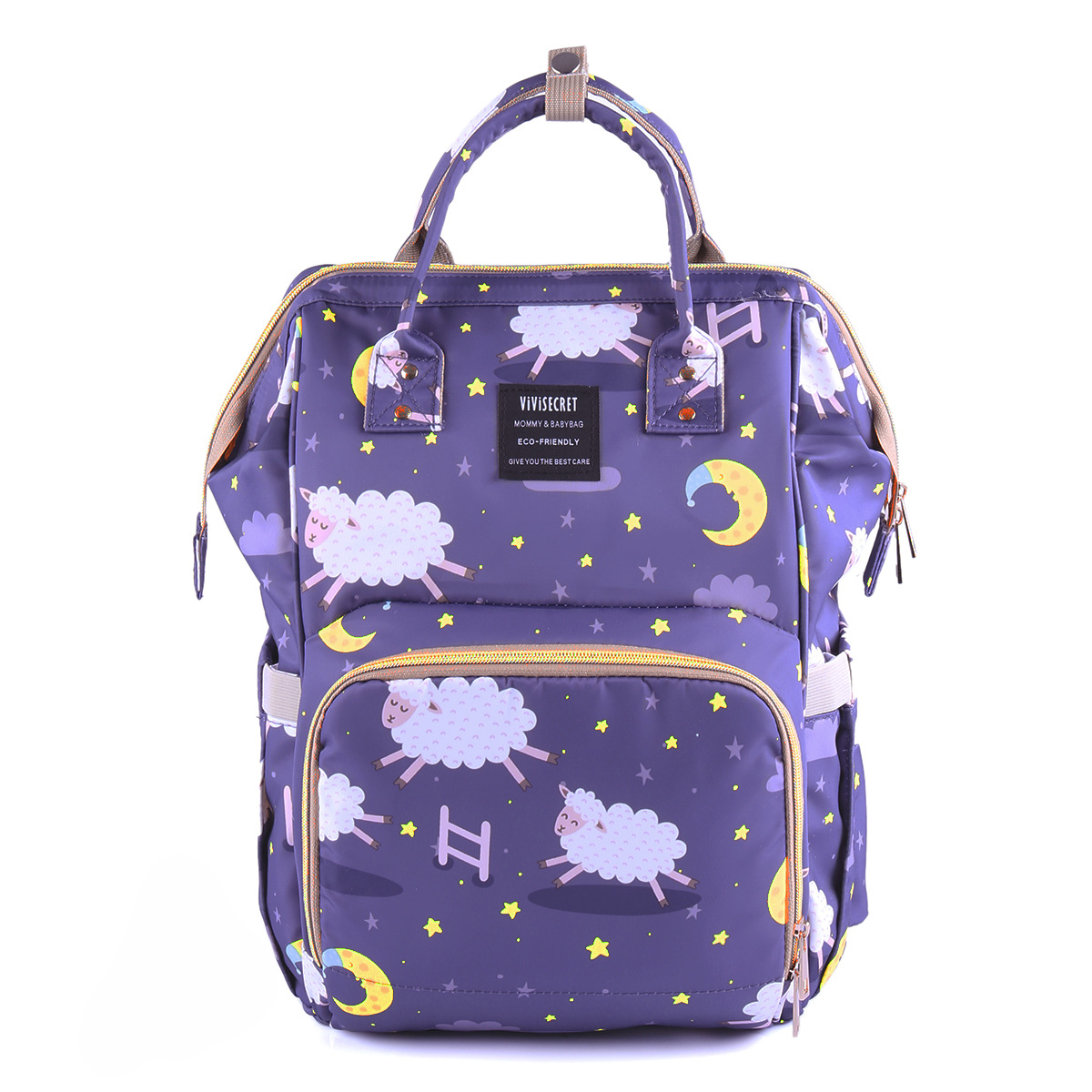 New Style Diaper Bag Printed Large Capacity Waterproof MOTHER'S Bag Shoulder Multi-functional Casual Fashion Mom And Baby Expect