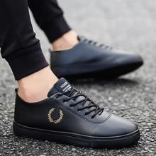 купить 2019 breathable non-slip wear resistant men board shoes autumn fashion leather men casual shoes sexy men white sneakers zapatos дешево