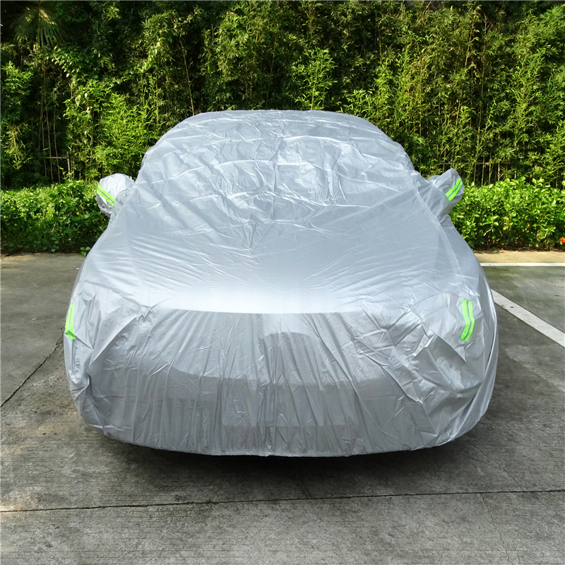 1 Pcs Universal SUV Sedan Full Car Covers Outdoor Waterproof Sun Rain Snow Protection UV Car Silver S-XXL Auto Case Cover