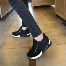 2019 New Women Casual Shoes Height Incre